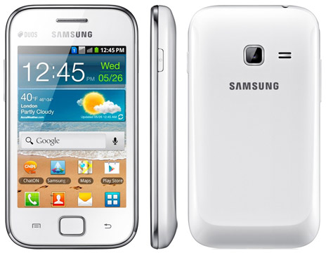 Смартфон Samsung S6802 Galaxy Ace Duos White